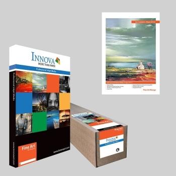 "Innova IFA 12 1118x15m Soft Textured 315gsm Natural White Fine Art Paper- 44"" Roll"