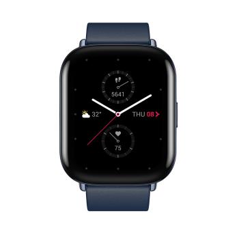 Zepp Square Deep Sea Blue Leather Strap Smart Watch