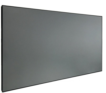 "DMINTERACT 160"" Thin Frame Black Crystal ALR Projector Screen"