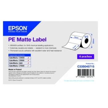 Epson PE Matte Label - Die-cut Roll: 76mm x 51mm, 2310 labels