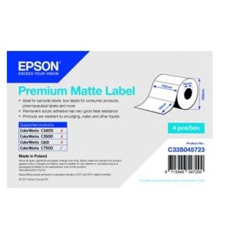 Epson Premium Matte Label - Die-cut Roll: 102mm x 76mm, 1570 labels