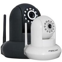 Foscam Wireless IP Pan/Tilt Camera Indoor PNP 720P White