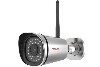 Foscam FI9900P Outdoor HD 1080P Wireless Plug & Play IP Camera with Night Vision- Gray.