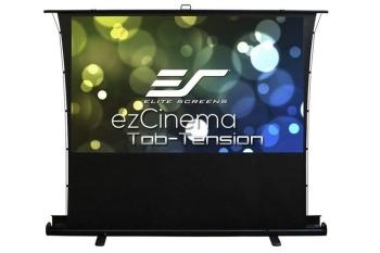 "Elite Screens 92"" ezCinema Tab Tension Manual Floor Projector Screen"