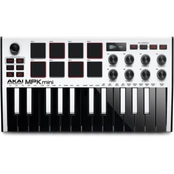 AKAI Professional MPK Mini MK3 Compact Keyboard - White