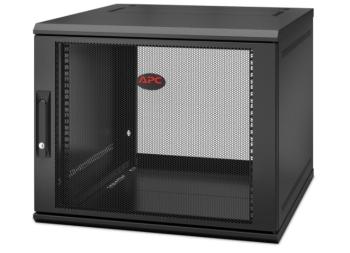 APC AR109SH6 Net Shelter Single Hinged Server Depth 9U Wall Mount Rack Enclosure Cabinet